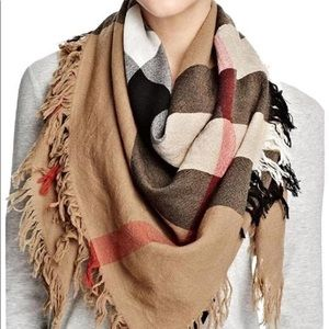 Burberry House Check Colour Wool Square/Scarf